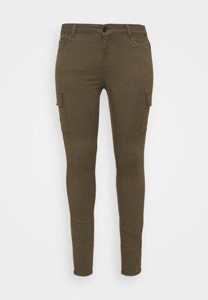NMLUCY UTILITY PANTS - Cargo trousers - kalamata