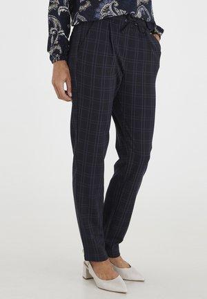 FRMECHECK  - Trousers - navy blazer mix