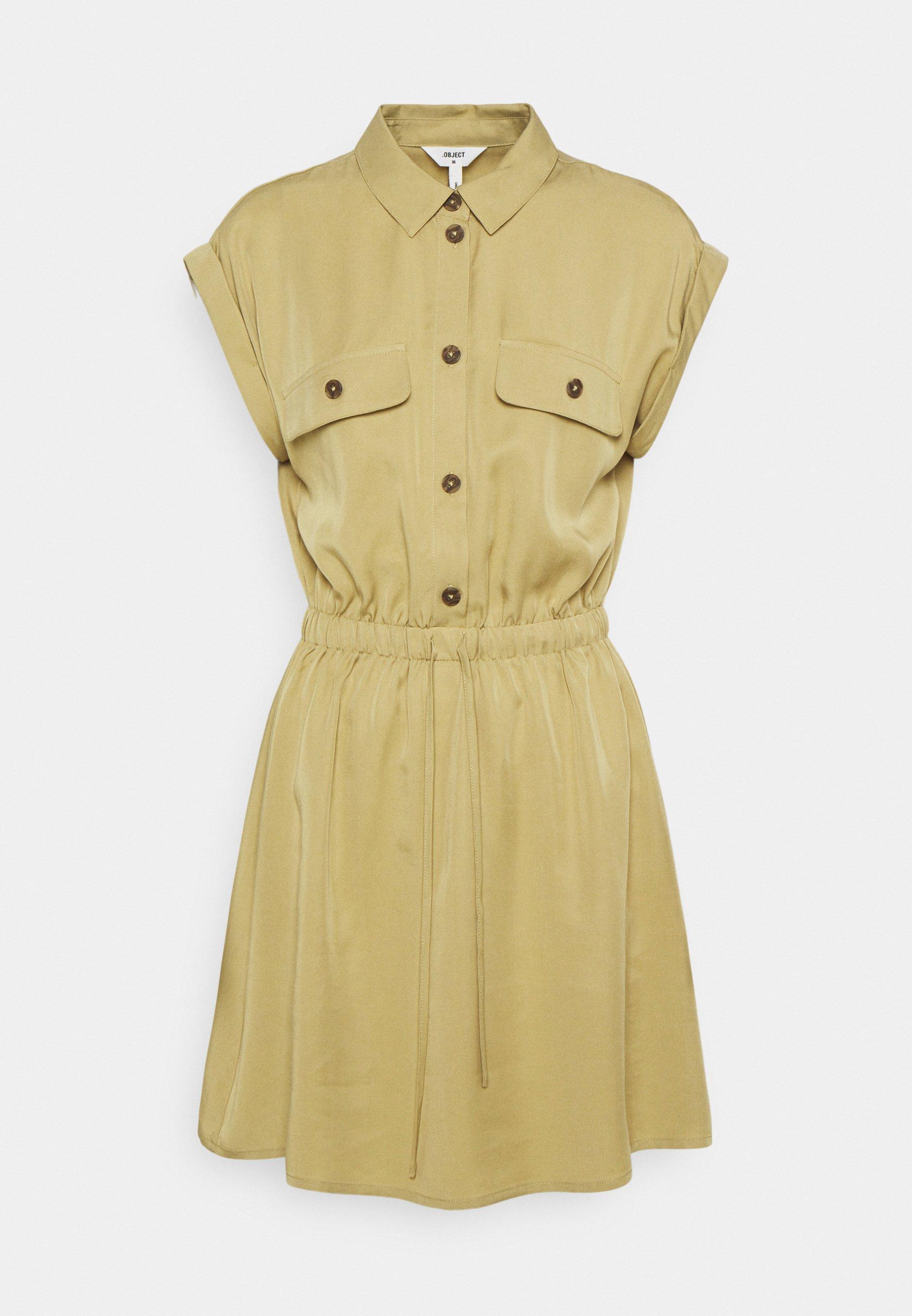 Women OBJTILDA SHORT DRESS - Shirt dress