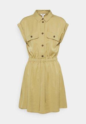 OBJTILDA SHORT DRESS - Shirt dress - khaki