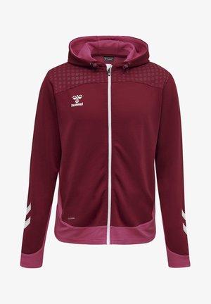 Zip-up hoodie - biking red