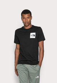 The North Face - FINE TEE - T-shirt med print - black - 0