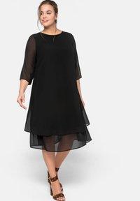 Sheego - Vestido de cóctel - black - 1