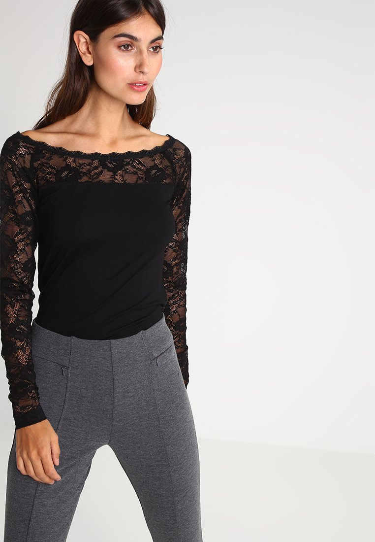 Kaffe - Long sleeved top - black deep