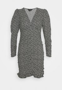 RUCHED FOCHETTE - Shift dress - black