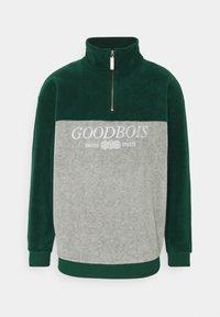 GOODBOIS - BLOCK HALFZIP - Fleecová mikina - forest/heather grey - 0