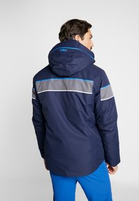 CMP - MAN JACKET ZIP HOOD - Skijacke - black blue - 2