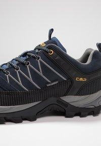 CMP - RIGEL LOW TREKKING SHOES WP - Hiking shoes - blue/graffite - 5