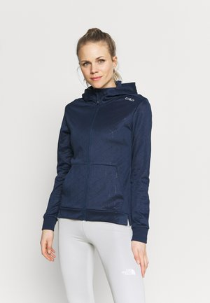 WOMAN FIX HOOD - Treningsjakke - blue