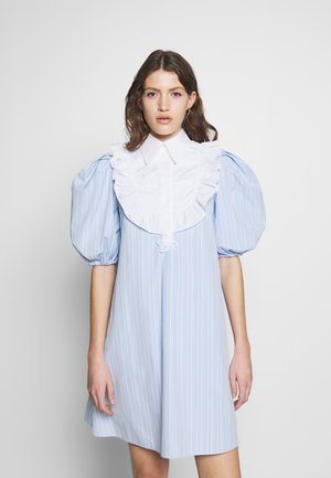 DRESS - Sukienka koszulowa - rigato fondo azzurro/bianco