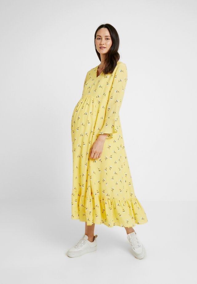 MIDI MATERNITY DRESS - Maxi-jurk - sunshine