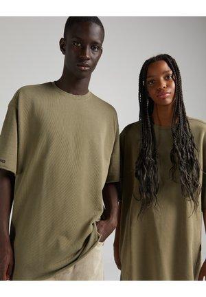 OVERSIZED SHORT SLEEVE SWEAT - Basic T-shirt - khaki