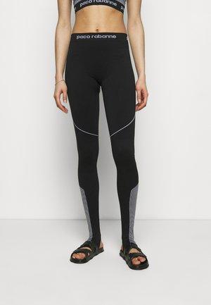 PANTALON - Leggings - black/white
