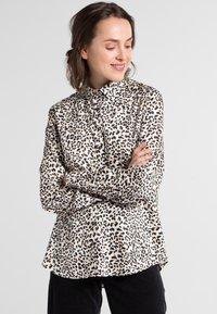 Eterna - MODERN CLASSIC - Button-down blouse - beige/black - 0