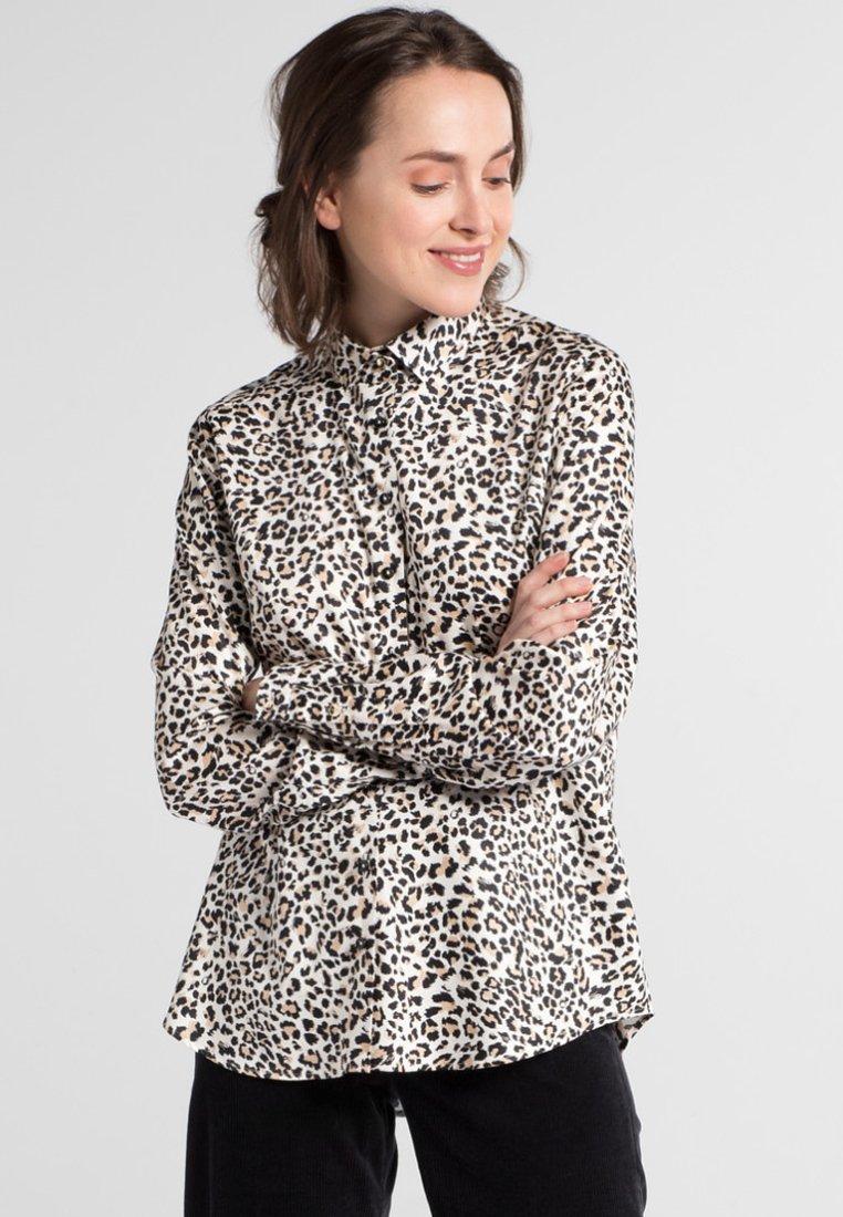 Eterna - MODERN CLASSIC - Button-down blouse - beige/black