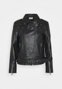 VILLOW BIKER JACKET  - Leather jacket - black