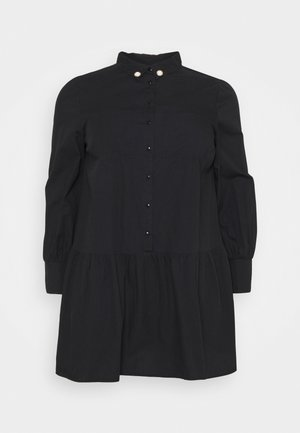 AUBREY DRESS WITH PEARL TRIM - Day dress - black