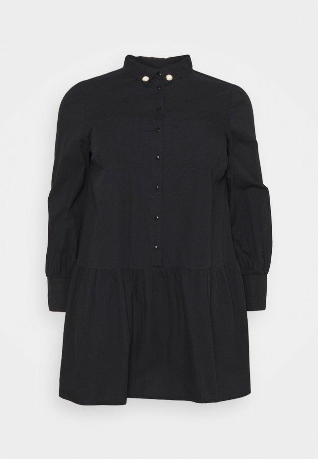 AUBREY DRESS WITH PEARL TRIM - Denní šaty - black