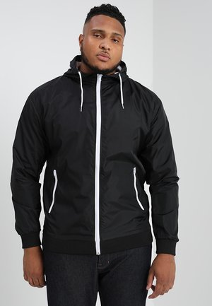 CONTRAST WINDRUNNER - Summer jacket - black/white