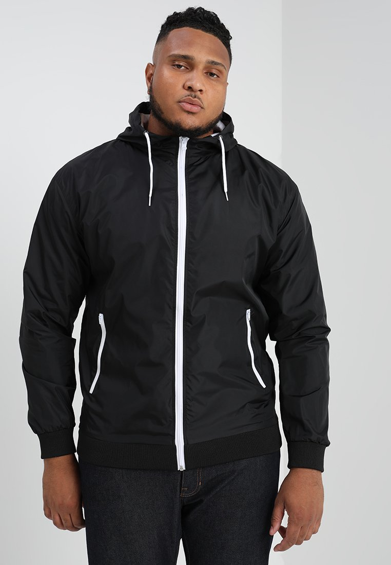 Urban Classics - CONTRAST WINDRUNNER - Summer jacket - black/white