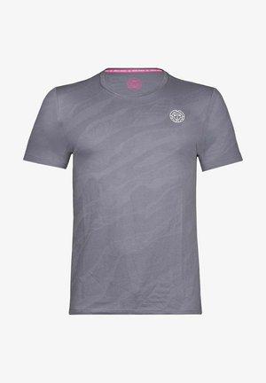 T-shirt med print - grau