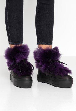 RUSH - Platform ankle boots - schwarz/dark bram