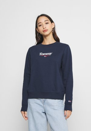 ESSENTIAL LOGO CREW - Collegepaita - twilight navy