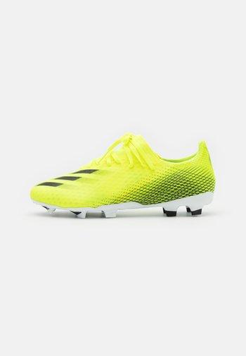 X GHOSTED.3 FG - Fotbollsskor fasta dobbar - solar yellow/core black/royal blue