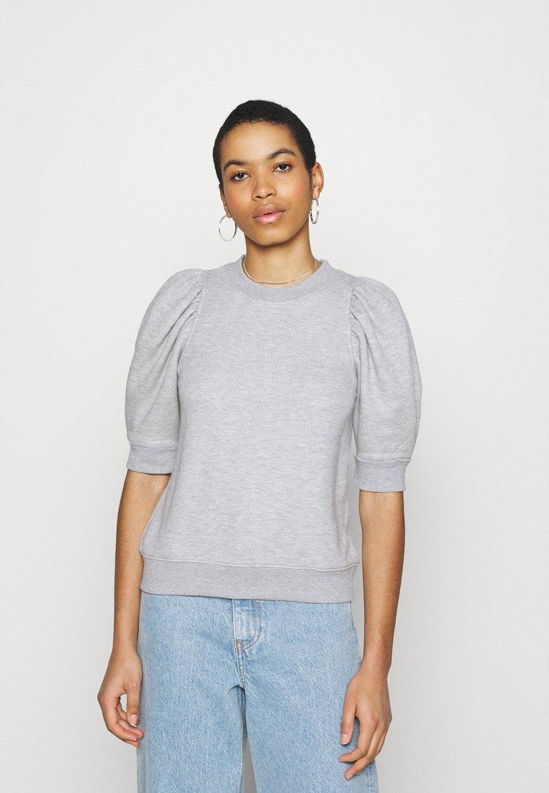 Second Female - DAWNI TEE - T-shirt imprimé - grey melange