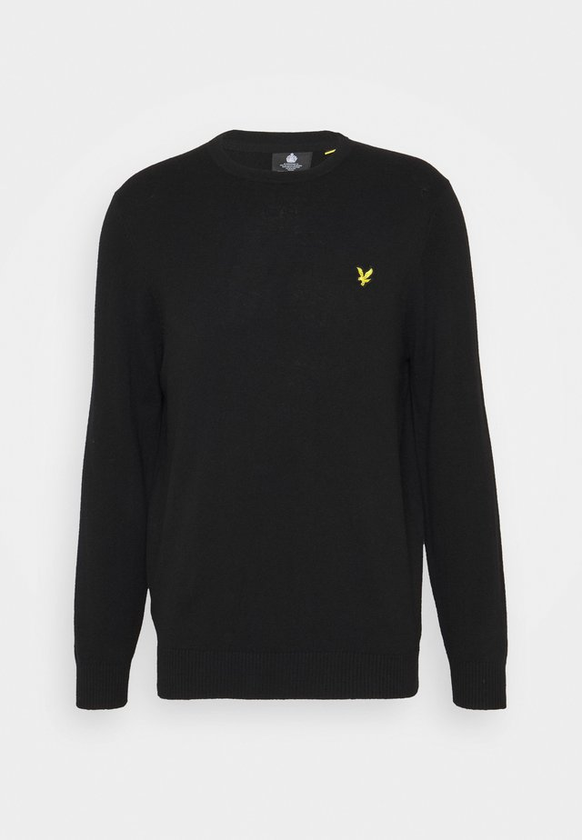 Crew Neck Jumper - Neule - jet black