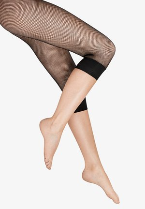 MONO FISH SCALE CAPRI - Leggings - Stockings - black/black
