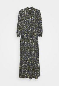 Marc O'Polo DENIM - RUFFLE AT WAIST 3/4 SLEEVE - Maxi dress - multi/burnished logs - 0