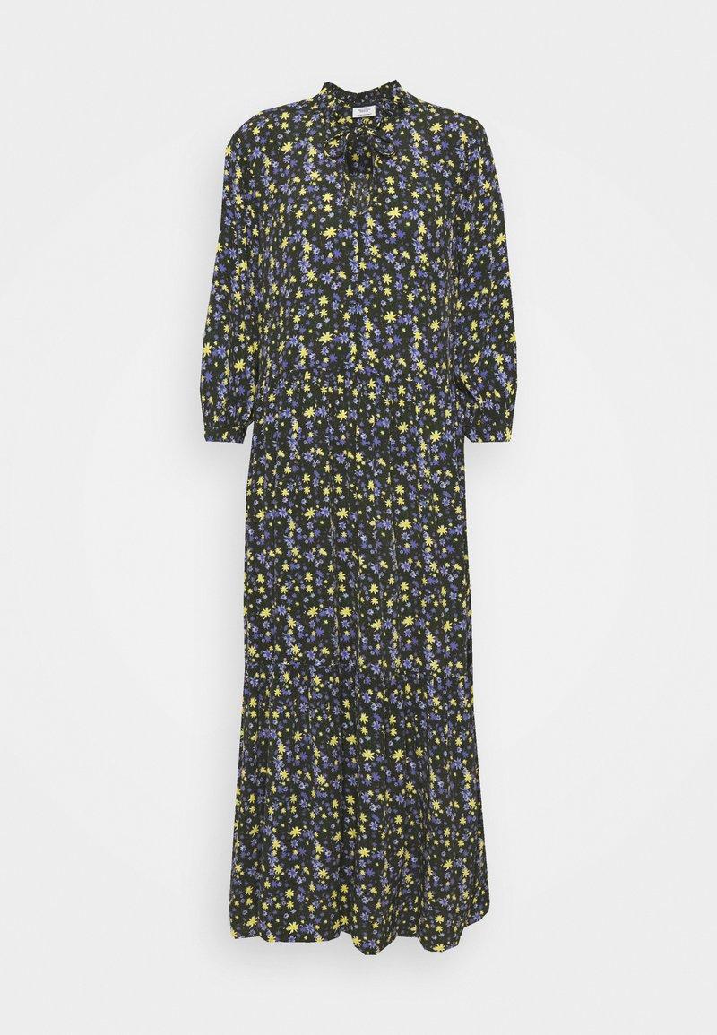 Marc O'Polo DENIM - RUFFLE AT WAIST 3/4 SLEEVE - Maxi dress - multi/burnished logs