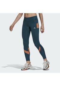 adidas Performance - Leggings - turquoise - 0