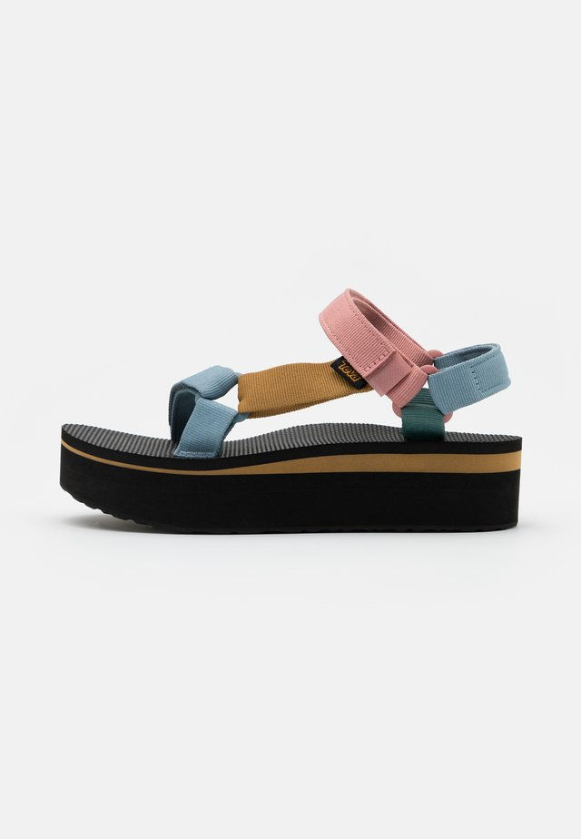 FLATFORM UNIVERSAL WOMENS - Chodecké sandály - light multicolor/universal