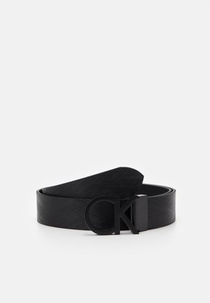 BUCKLE TEXTURED  - Cintura - black