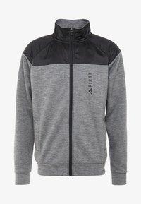 FIRST - HIGHNECK ZIP - Zip-up hoodie - medium grey melange - 4