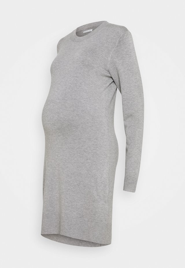 MATERNITY KNIT DRESS - Trikoomekko - mid grey melange