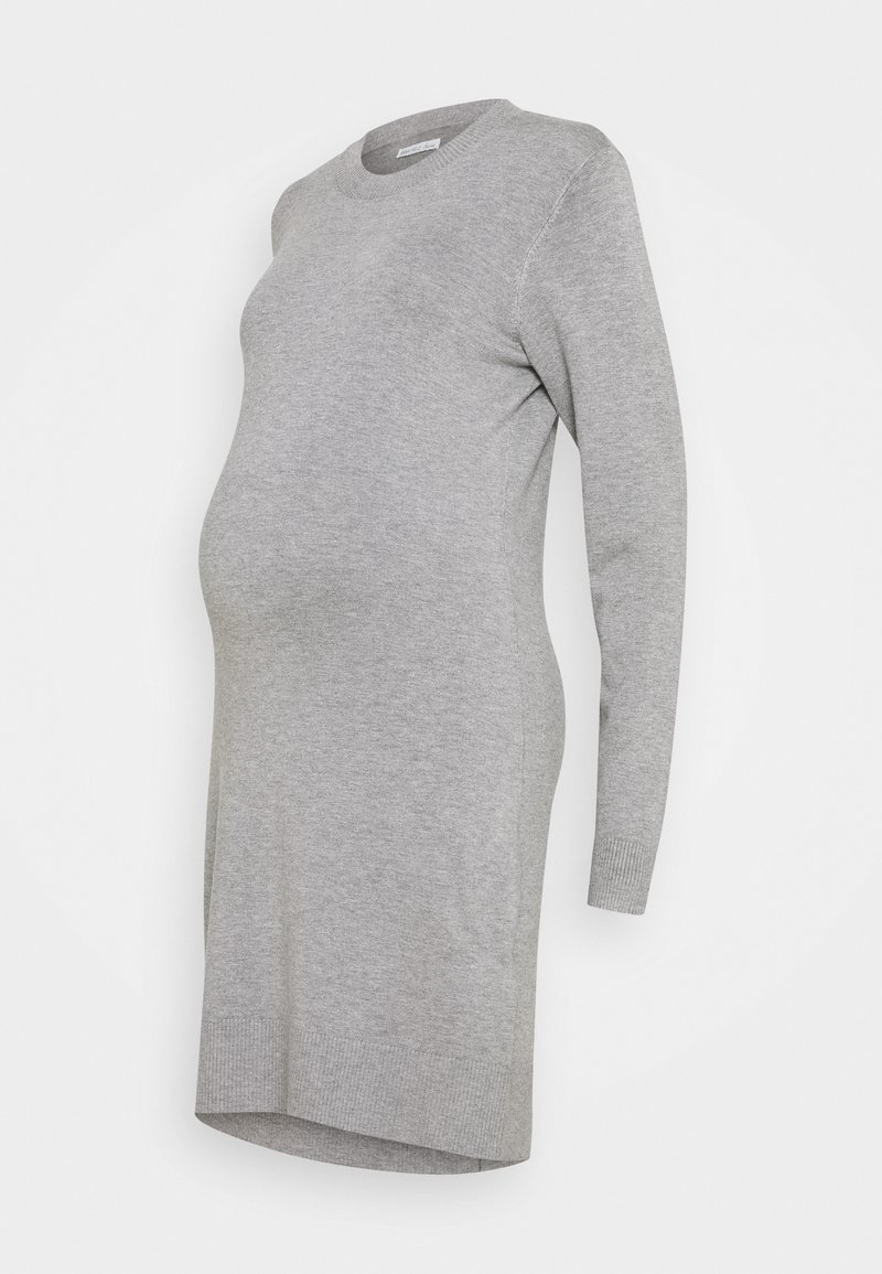 Anna Field MAMA - MATERNITY KNIT DRESS - Sukienka z dżerseju - mid grey melange