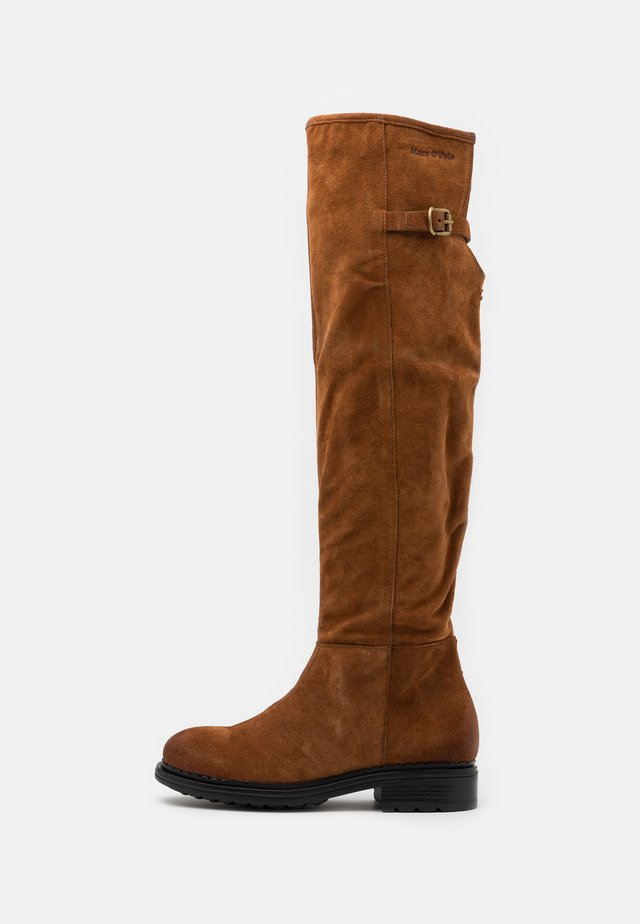 NAKANA - Over-the-knee boots - cognac
