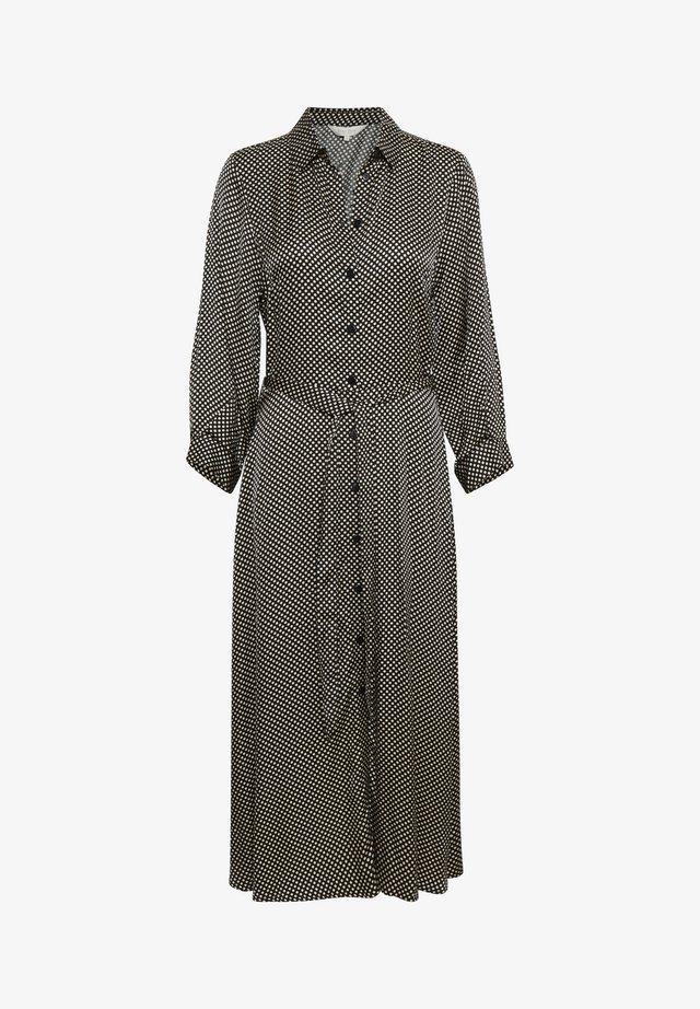 FABRINA - Vestido largo - dot print, black