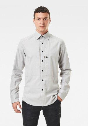 PANELLED POCKET SLIM - Shirt - steel grey