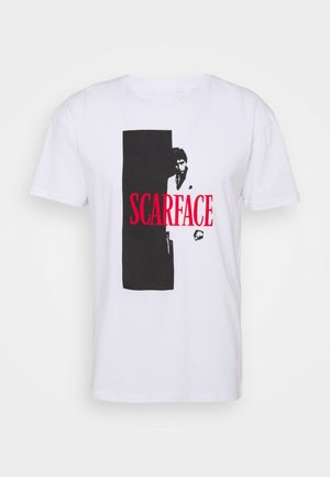 SCARFACE COVER TEE - T-shirt print - white
