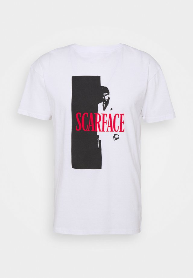 SCARFACE COVER TEE - Print T-shirt - white