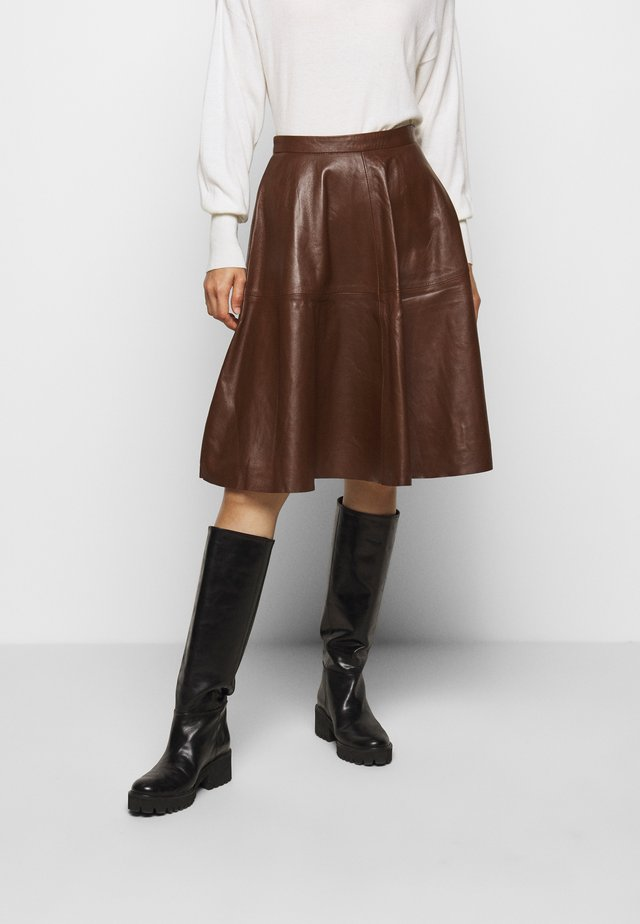 TESSA SKIRT - Jupe trapèze - brown