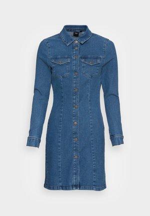 VMHAVANNA STITCH SHORT DRESS  - Dongerikjole - medium blue denim