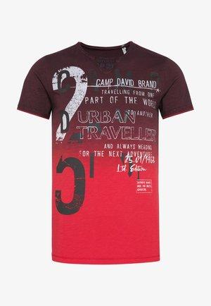 Print T-shirt - dark teal