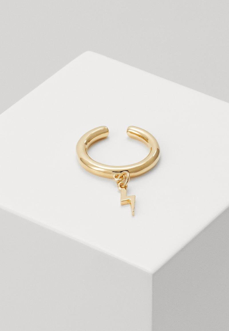 Orelia - LIGHTNING CHARM SINGLE EAR CUFF - Earrings - pale gold-coloured