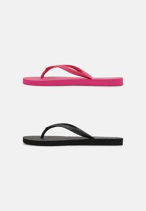 2 PACK - Varvassandaalit - black - pink