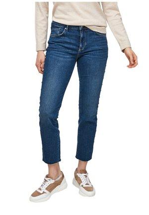 MIT SCHMUCKPERLEN - Slim fit jeans - dark blue